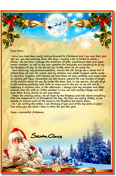A Preview Of How The Letter From Santa Will Look ...  Christmas Letter Template Word Free