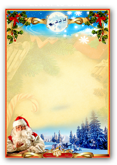 Free santa letters download your personalized letter from santa a preview of how the letter to santa will look spiritdancerdesigns Image collections