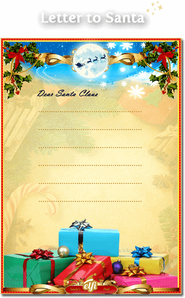 letter from santa template free santa letters your personalized letter 22858